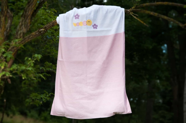 """Pink embroidered duvet cover """"Flower"""" 1"""
