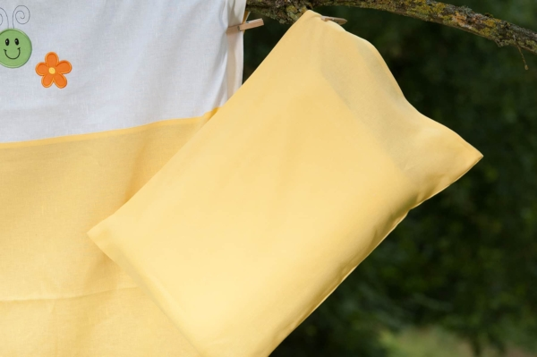 """Kid's yellow bed linen collection """"Sun"""" 4"""