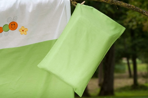 """Kid's green bed linen collection """"Leaf"""" 2"""