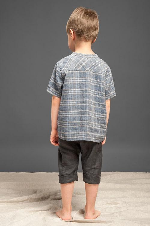 Dark grey linen harem-style boy shorts 3
