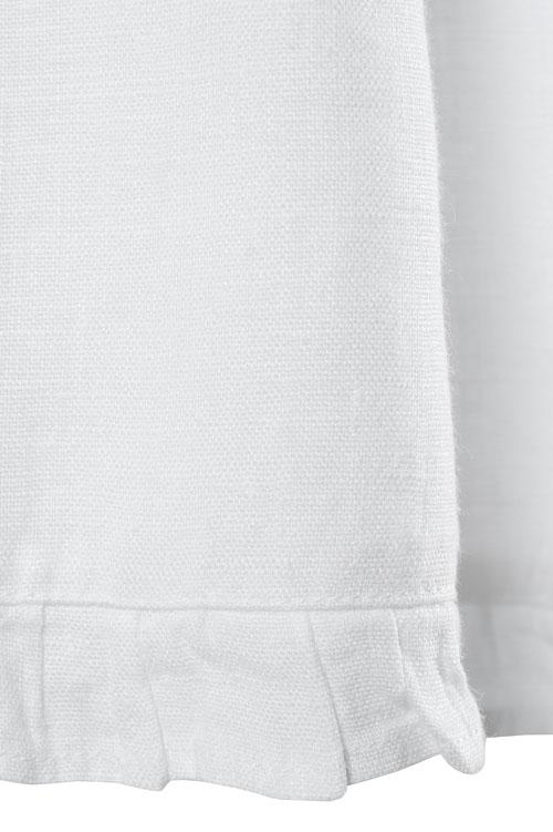 White shirred linen girl's dress 4