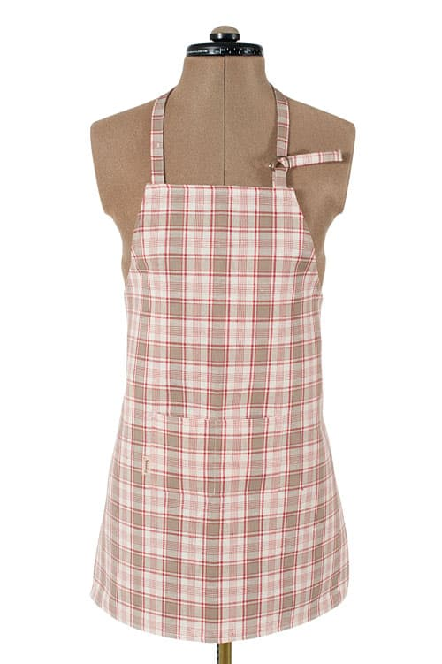 Checked linen apron for kids 1