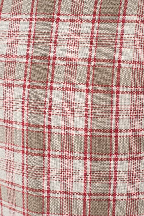 Checked linen apron for kids 3