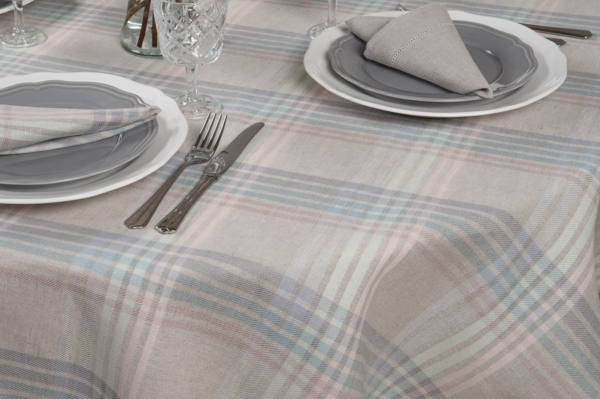 DELTA round (oval) light grey tablecloth 2
