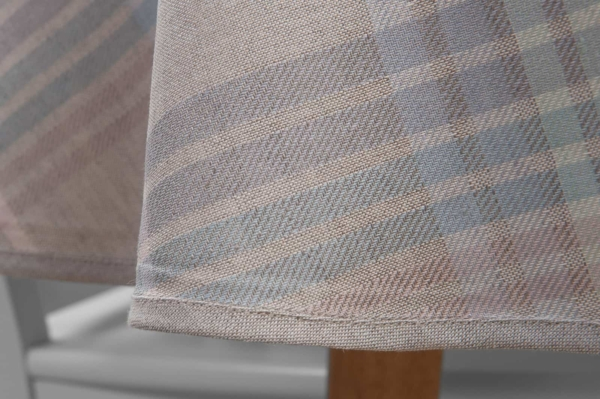DELTA round (oval) light grey tablecloth 3