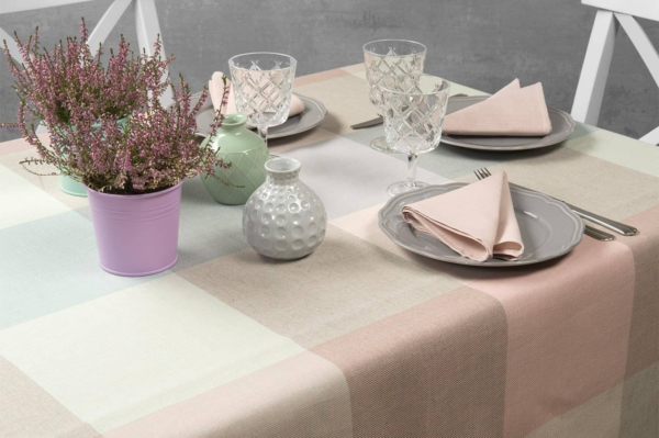 KARO light grey tablecloth 1