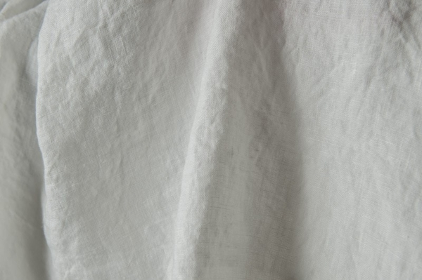Washed linen fabric in off-white 1