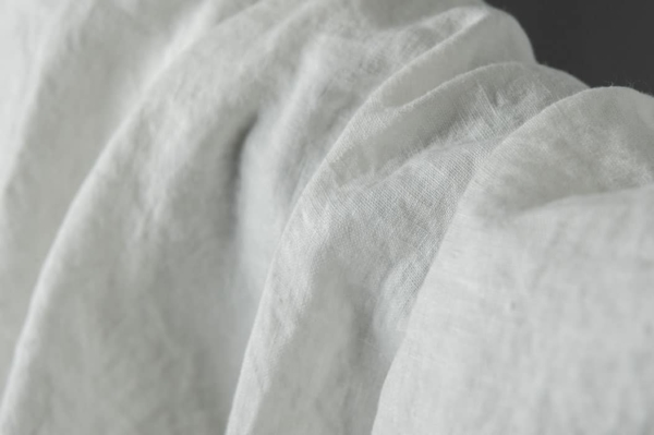 Washed linen fabric in off-white 2