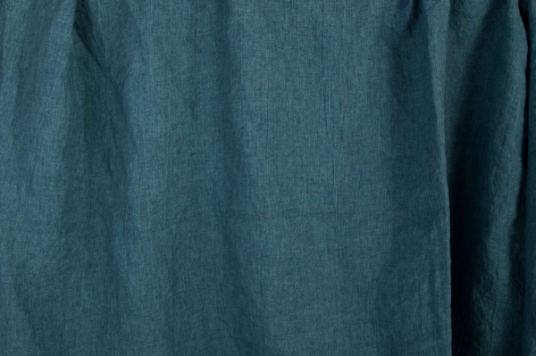 Washed linen fabric in denim blue colour 1
