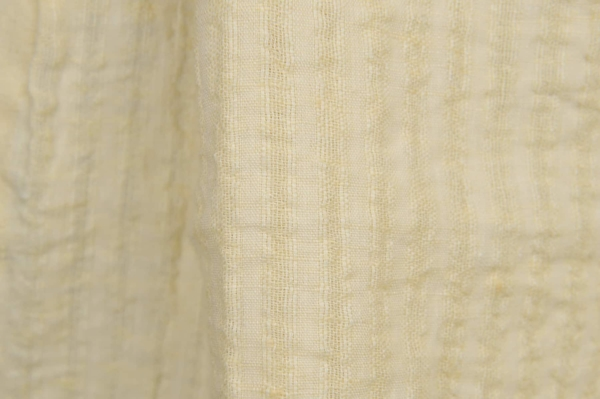 Washed linen fabric in cream colour 1