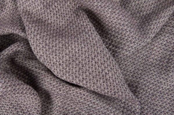 Grey violet washed linen fabric 1