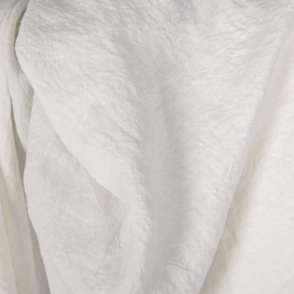 Wide washed linen fabric in off-white 1