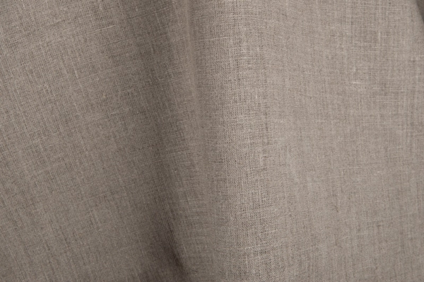 Plain pure linen fabric in grey (natural flax) colour 1