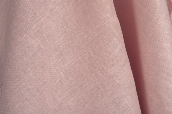 Pure linen fabric in pink 1