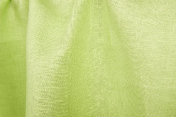 Linen fabric in lime green colour 1