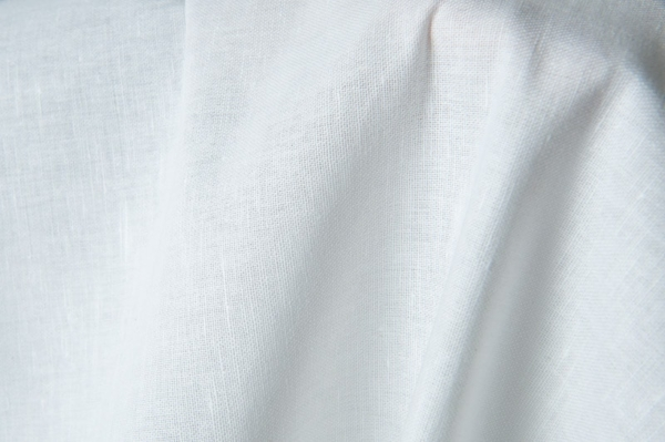 Bright white linen fabric 1