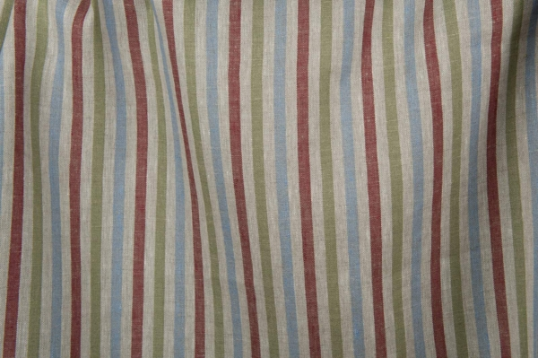 Linen fabric with multicoloured stripes 1