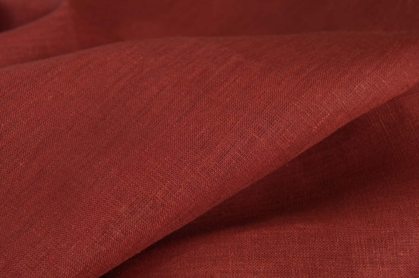 Linen red fabric 2