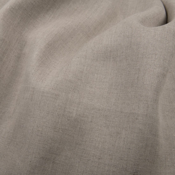 Natural grey linen fabric, wide 1