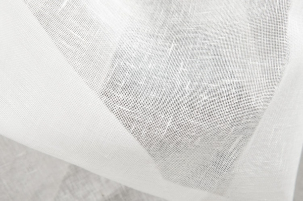 Transparent linen fabric in off-white 1