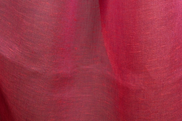 Transparent linen fabric in red 2