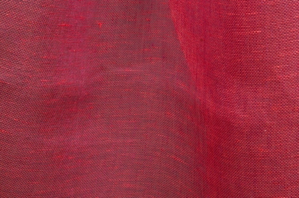Transparent linen fabric in red 1