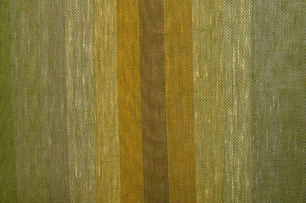Transparent green linen fabric in stripes 2