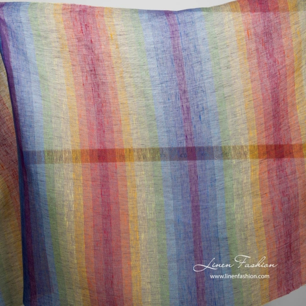 Transparent rainbow linen fabric 3