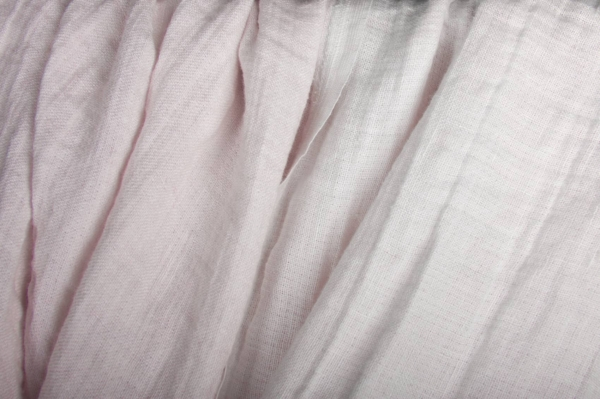 Pink washed double-layer linen fabric 1