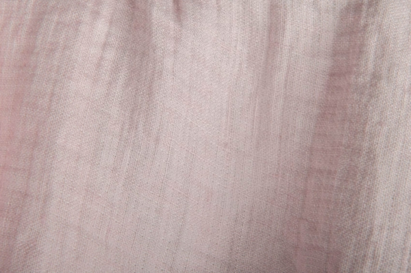 Pink washed double-layer linen fabric 2