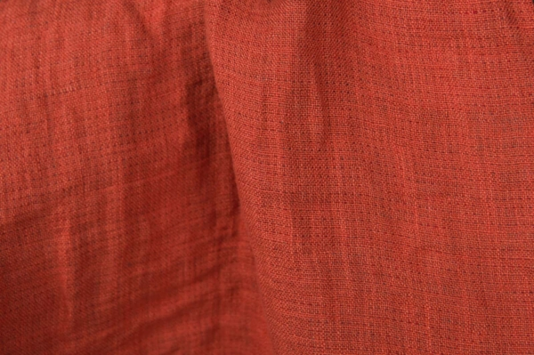 Red washed linen fabric, double-sided 2