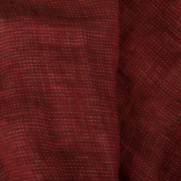 Double-sided washed linen fabric in red 3