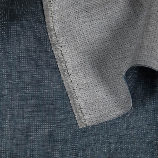 Double-sided dark blue linen fabric 1