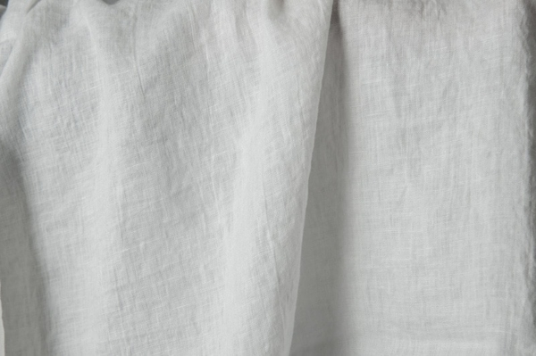 Off-white washed linen fabric 2