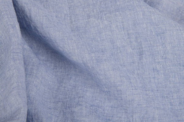 Baby blue washed linen fabric 1