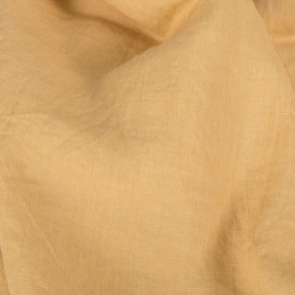 Pale yellow washed linen fabric 1