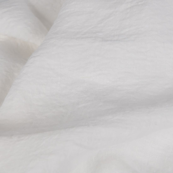 Wide off-white linen fabric, washed 1