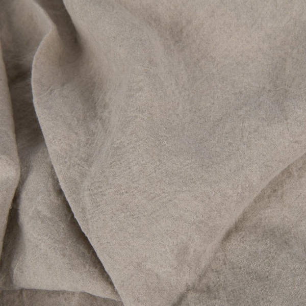 Wide natural grey linen fabric, washed 1