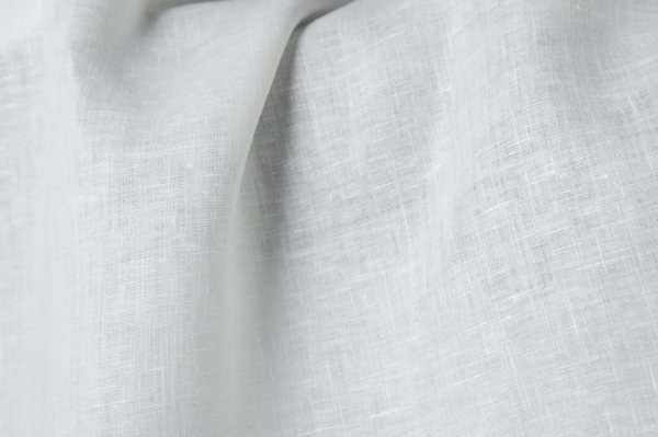 Linen fabric in optic white 1