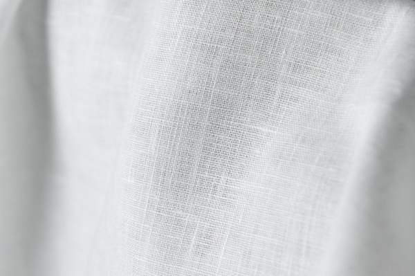 Linen fabric in optic white 2