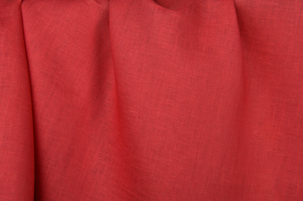 Red linen fabric 1