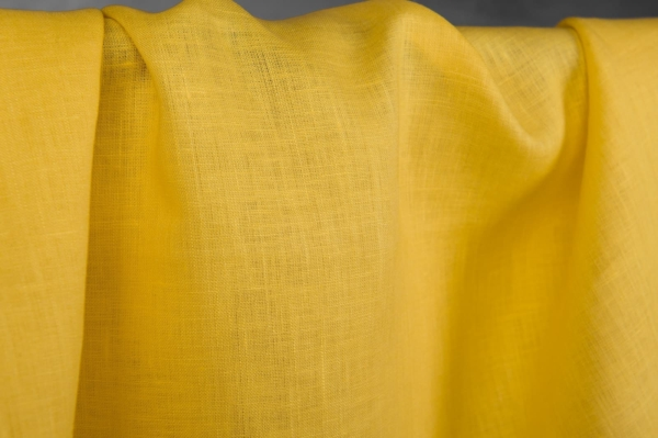 Yellow linen fabric 1