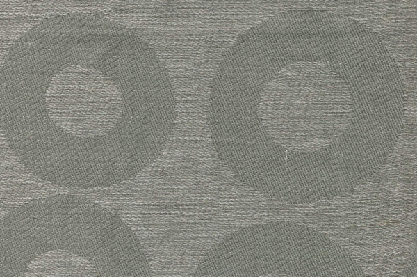 Grey linen cotton fabric in a circle pattern 1