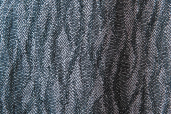 Violet washed linen fabric with a pattern 2
