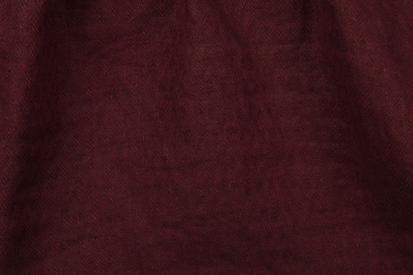 Dark red linen fabric, washed 1