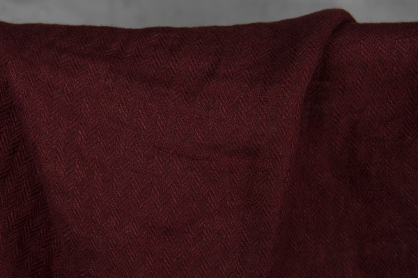 Dark red linen fabric, washed 2