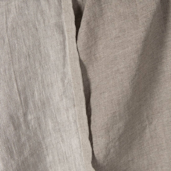 Light grey double sided linen fabric, washed 1