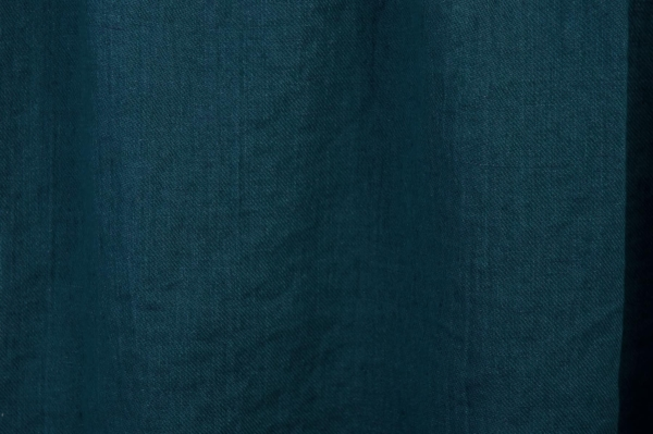 Double-sided blue washed linen fabric 2