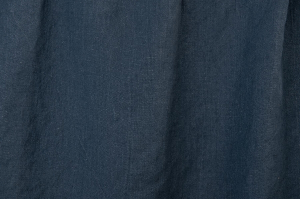 Washed dark blue linen fabric 1