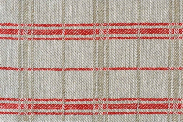 Natural with red checked fabric 1